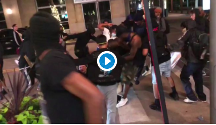 George Floyd Riots: video of mob trying to murder and rob sword wielding man in Dallas