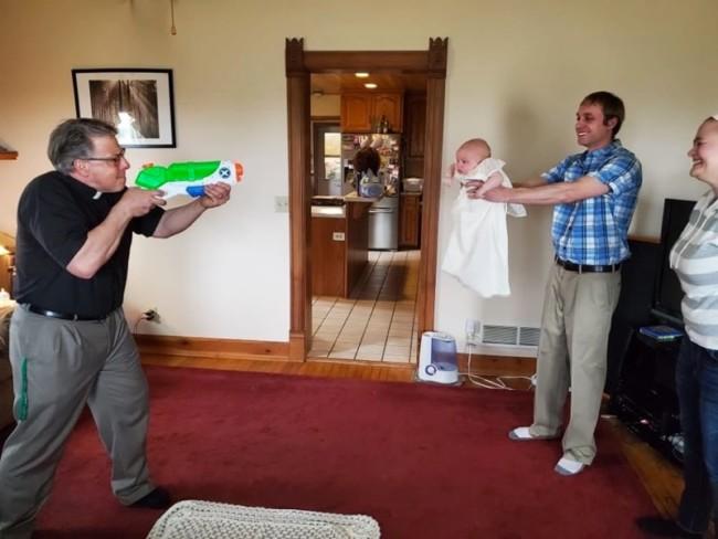 water pistol baptism