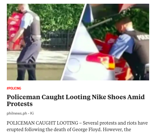looting police nike shoes george floyd
