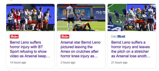 Leno injury