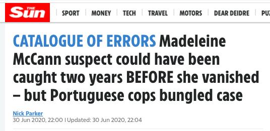 Maddie suspect rape..