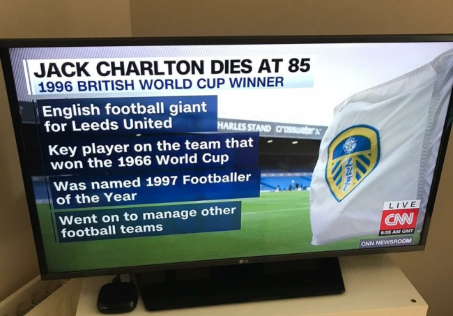 Jack Charlton CNN fail