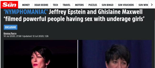 Maxwell films epstein sex