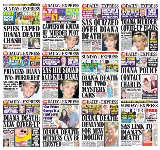 princess diana daily express