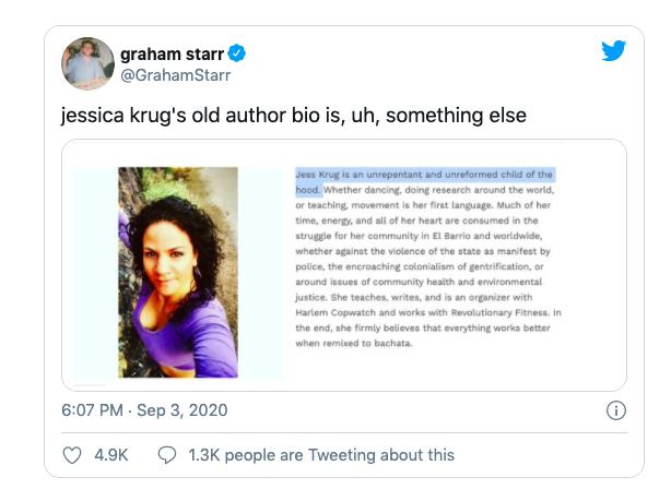 Jessica Krug bio black