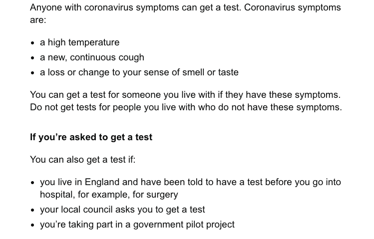 Covid test rules