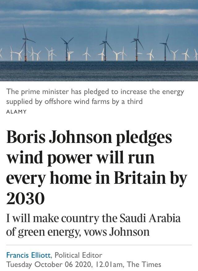 Boris Johnson wind power