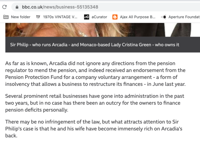 Philip Green BBC Arcadia