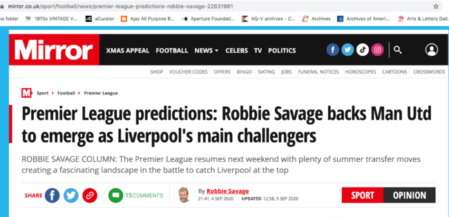 Robbie Savage Spurs
