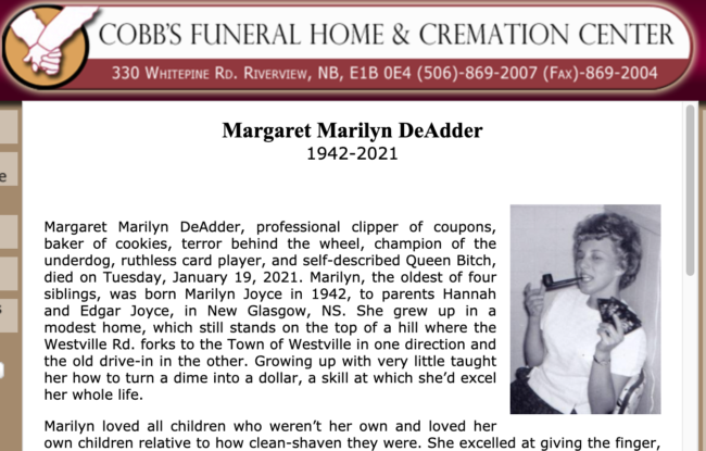 Great obituary