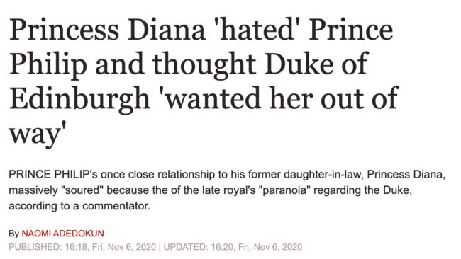 daily express diana philip