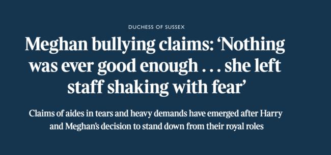 Meghan Windsor bullying